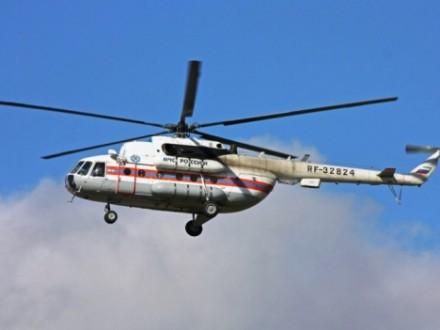 ВПодмосковье разбился вертолет МЧС, пилоты погибли