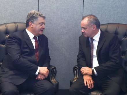 Руководитель Словакии пообещал Порошенко, что поддержит антироссийские санкции
