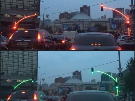 ВКиеве установили экспериментальные светофоры