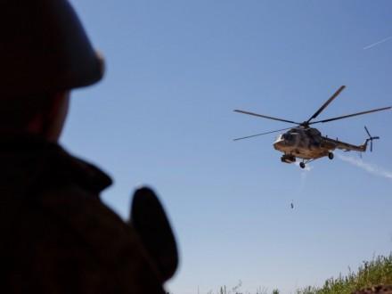Російський вертоліт Мі-8 зазнав обстрілу вСирії