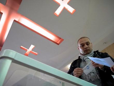 УГрузії наодній звиборчих дільниць сталася бійка (ВІДЕО)