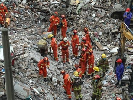 УКитаї обвалилися чотири житлових будинки, є жертви