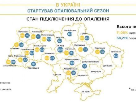 КГГА: неменее 90 столичных медучреждений подключены котоплению