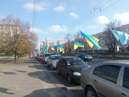 ВКиеве под посольствомРФ проходят сразу две акции протеста