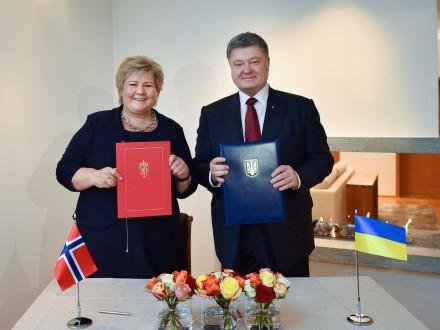 Порошенко: Украина иНорвегия подписали декларацию опартнерстве