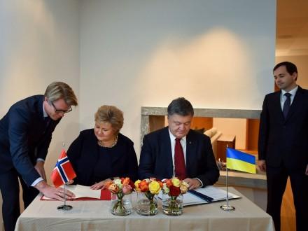 Порошенко вНорвегії підписав декларацію про партнерство