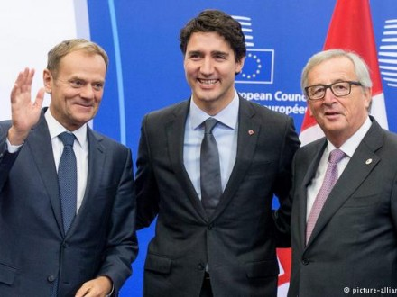 СоветЕС готов подписать соглашение освободной торговле сКанадой