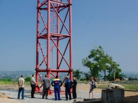 Порошенко дал старт работе восстановленной телерадиовышки нагоре Карачун