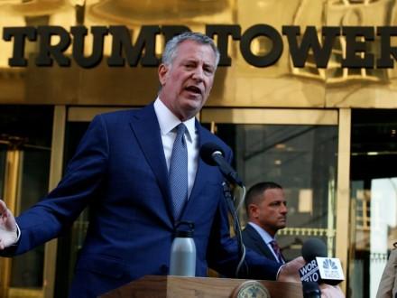 Мэр Нью-Йорка просит уОбамы наохрану Трампа 35 млн долларов