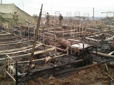 Наполигоне ВСУ зажегся палаточный городок