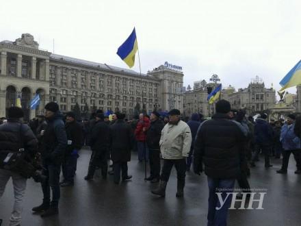 Ветераны МВД Украины блокировали центр украинской столицы, требуя отставки Авакова