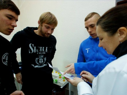 Футболисты «Днепра» собрались наклубной базе после зимнего отпуска