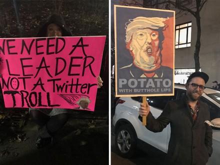 В Нью-Йорке на митинг против Д.Трампа собрались звезды и мэр города