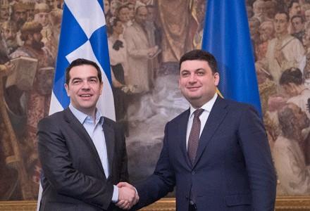 Гройсман договорился спремьером Греции сделать комиссию посотрудничеству