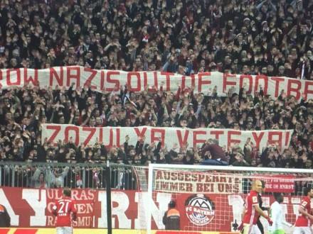 Фаны «Баварии» подняли лозунги настадионе— «Зозуля, иди вон»
