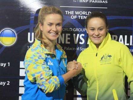 Світоліна перемогла австралійку Е.Барті у поєдинку Кубка Федерації