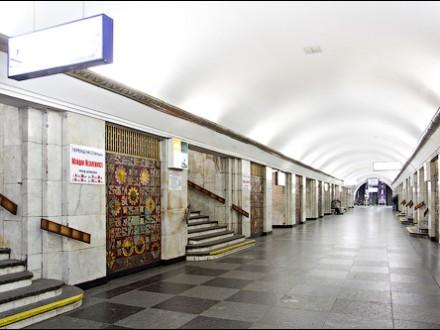 ВКиеве закрыли станцию метро Крещатик