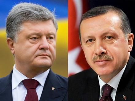 Порошенко та Ердоган обговорили подальші кроки з розвитку стратегічного партнерства