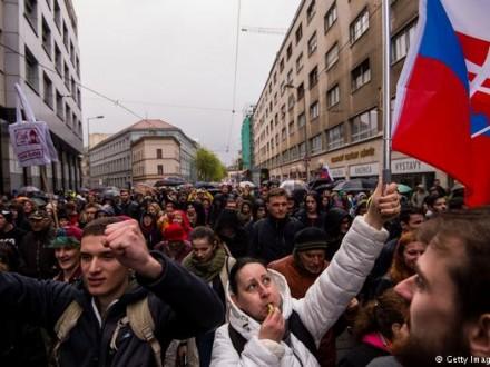 Пятитысячная демонстрация против коррупции состоялась вБратиславе