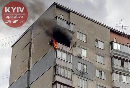 У багатоповерхівці на Виноградарі сталася пожежа