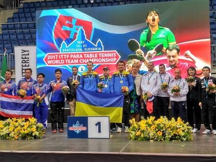 Українські паралімпійці здобули чотири медалі на ЧС з настільного тенісу