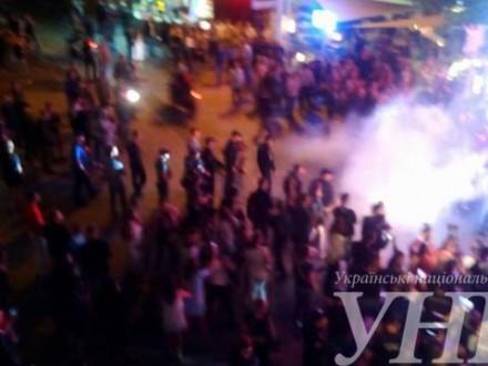 ВОдесі активісти зірвали концерт Лободи (ВІДЕО)
