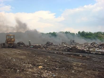 На сміттєзвалищі твердих побутових відходів м. Лубни виникла пожежа