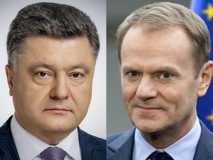 Порошенко поінформував Туска про порушенняРФ Мінських домовленостей