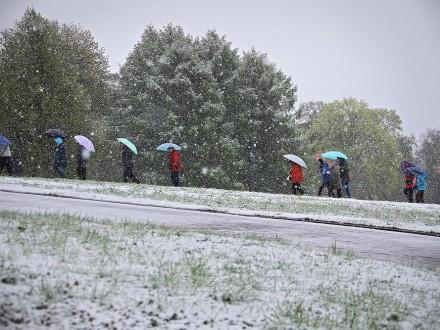 УМоскві та Пітері випав літній сніг