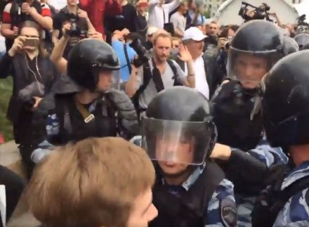 Протести вРосії: кількість затриманих перевищила тисячу осіб