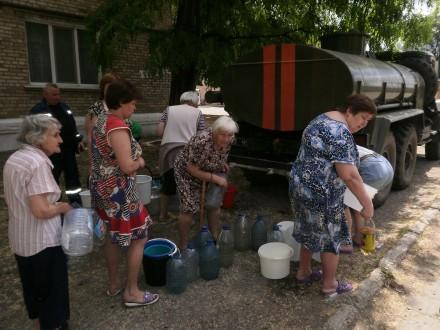В5 районах Донеччини відсутнє централізоване водопостачання