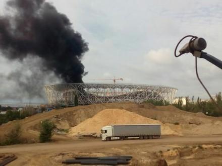 Уросійському Волгограді загорівся недобудований стадіонЧС