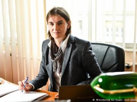 Новий уряд Сербії сформує міністр державного і місцевого самоврядування Ана Брнабіч