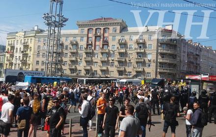 Марш рівності уКиєві: поліція затримала 7 його противників
