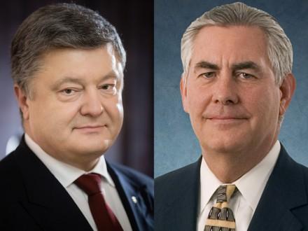 Порошенко обговорив із Тіллерсоном питання якнайшвидшого звільнення українських заручників