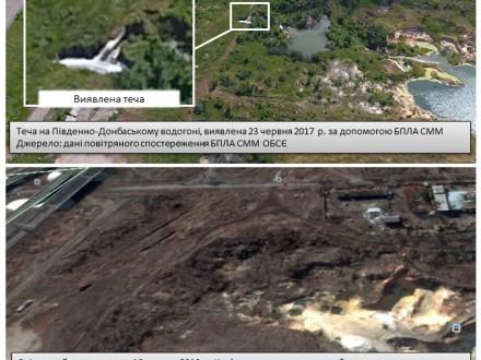 ОБСЄ зафіксувала серйозні пошкодження на Південно-Донбаському водопроводі