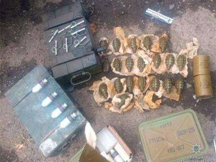 ВЗапорожье полицейские приобрели учленов ОПГ целый арсенал оружия