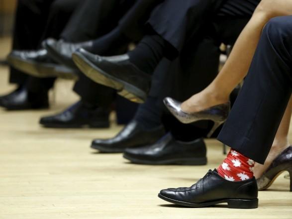 Українські шкарпетки поповнили колекцію прем'єр-міністра Канади