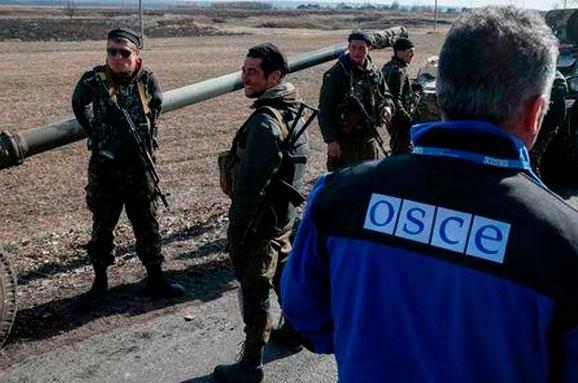 ОБСЄ заявило, що путінські терористи блокують доступ до місць зберігання важкого озброєння