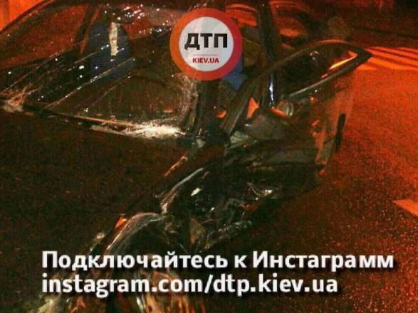 Нетрезвый шофёр иномарки спровоцировал ДТП вКиеве, где пострадали 5 человек