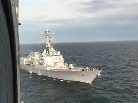 Минобороны показало, зачем вОдессу пришел американский эсминец