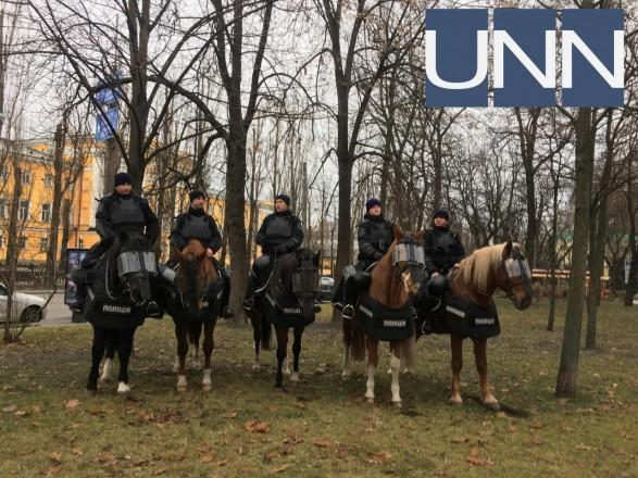 Акция вКиеве: 2 тыс. участников, нацгвардейцы и милиция налошадях