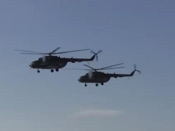Узоні АТО пройшли навчання вертолітників зураженням цілей