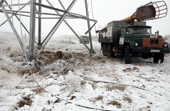 В Україні залишаються знеструмленими через негоду 294 населені пункти