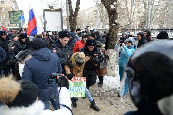 УРосії на«страйках виборців» затримали понад 250 людей