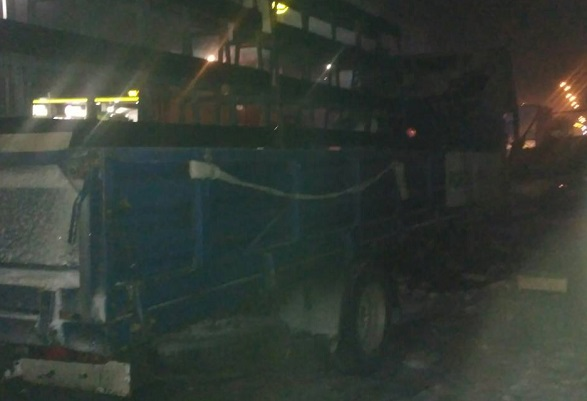 Натрасі Київ-Чоп горіла вантажівка, водій у лікарні