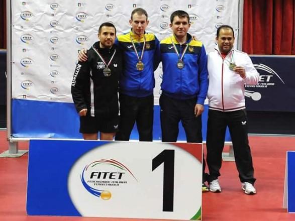 Українські паралімпійці вибороли ряд медалей на турнірі з настільного тенісу в Італії