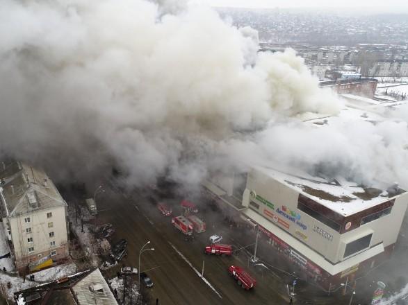 Востріков показав відео перших хвилин пожежі в«Зимовій вишні»