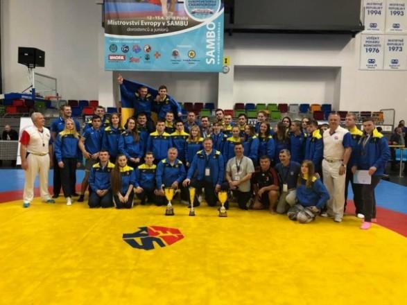 Українські самбісти завоювали 30 медалей на юнацькому чемпіонаті Європи