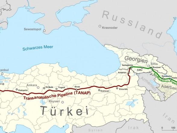 Анкара назвала дату запуску газопроводу вобхід Росії